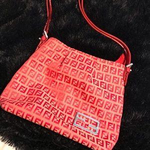 Red fendi purse